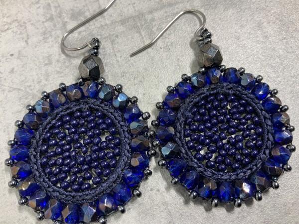 Ohrring Lagrima blau