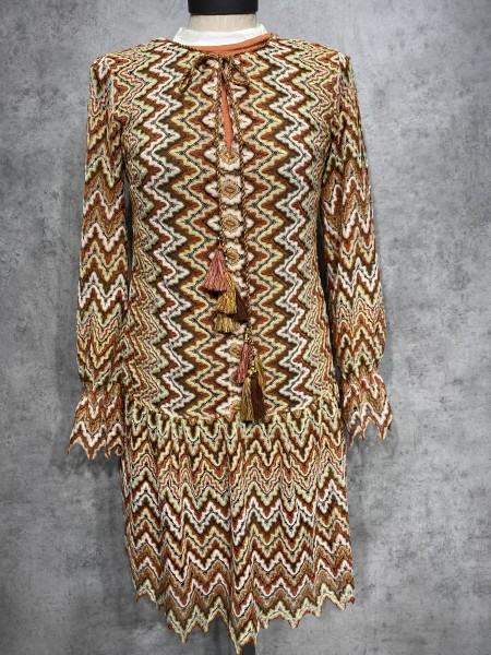 Kleid ZIZACK langarm rost 047800-2911