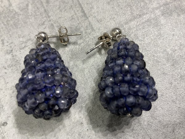 Ohrring Rockberries blau/silber