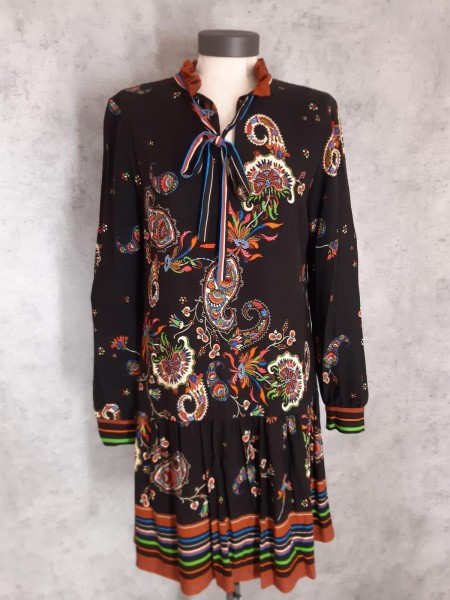Kleid schwarz/bunt 047334-2791