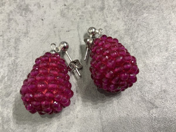 Ohrring Rockberries pink/silber