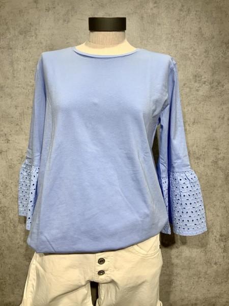 Shirt mit Lochstrickerei