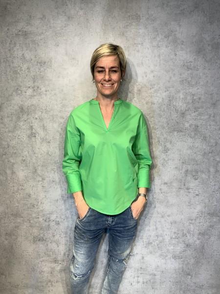 Bluse V grün