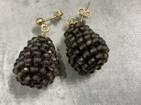 Ohrring Rockberries braun/gold