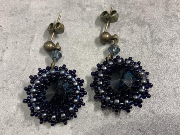 Ohrring Starlette Stecker dunkelblau