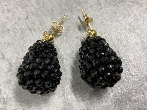 Ohrring Rockberries schwarz/gold
