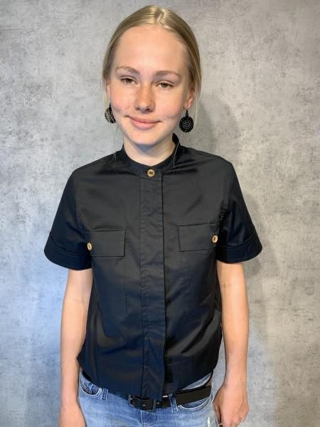 Bluse BOXY mit Tschen schwarz 4Y0V8BRUY