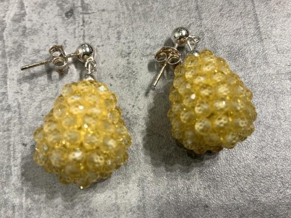 Ohrring Rockberries gelb/silber