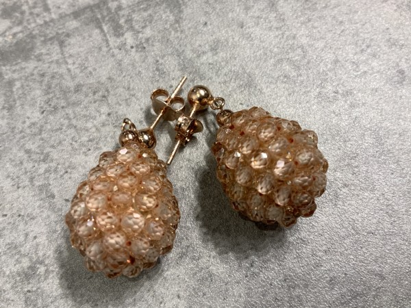Ohrring Rockberries peach/gold